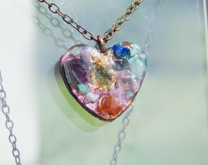 Orgonite® Pendant - Moldavite, Kunzite, K2, Turquoise - Orgone Necklace - EMF Sheild - Protection - 528hz Solfeggio