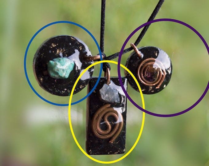 Small Orgonite® Pendants Various Shapes - Basic Orgone Necklace - EMF Sheild - Protection - 528hz Solfeggio