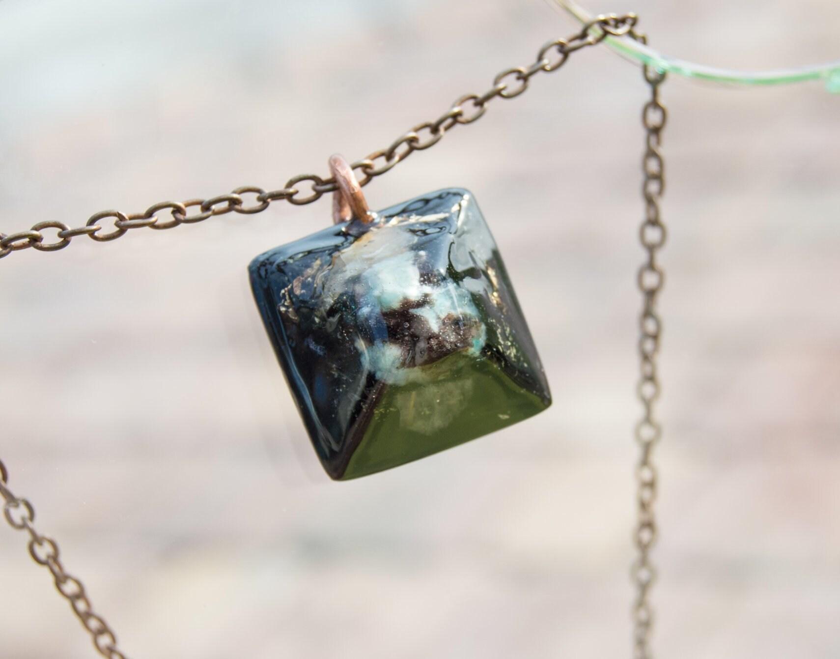 "Shungite pendant /""crystal/"" Russian mystic stone crystal amulet Reiki aura"
