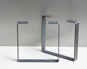 Metal Coffee Table Legs (Set of 2), Steel Bench Legs, Steel Base