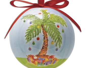palm tree christmas ornament