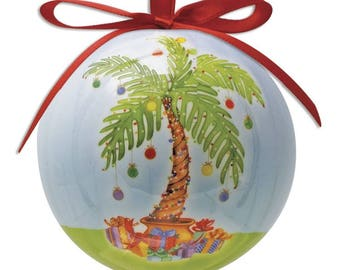 palm tree christmas ornament - Palm Tree Christmas Decorations