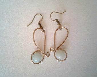 Amazonite Earrings | Copper Earrings | Geometric Earrings | Boho | Summer