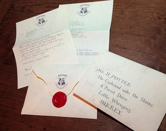 Hogwarts Acceptance Letter Printable (editable Photoshop files)| 100% Screen (Movie) Accurate | Harry Potter Prop | Digital File