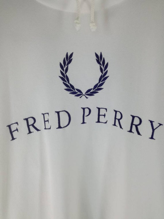 spellout Rare logo Vintage Fred big Perry Sweatshirt 1CwxIqzx