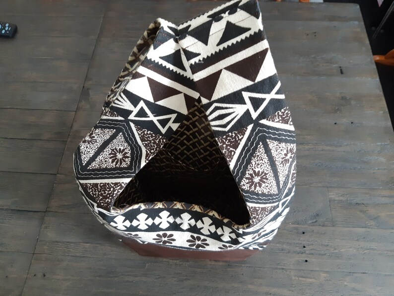 6c47915ff4f Masi Leather Tote, Masi Bag, Faux Leather Bag, Leather Bag, Tote Bag,  Tribal Tote Bag
