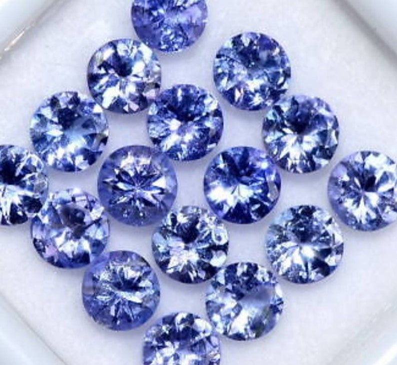 3mm natural tanzanite gemstone calibrated tanzanite  round tanzanite  natural tanzanite stone  loose tanzanite gemstone  10 piece lot