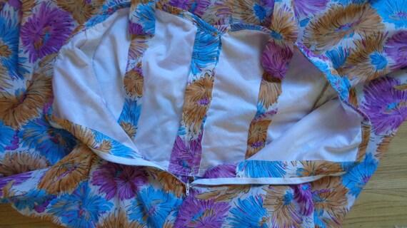 50s floral halter neck dress, handmade French vin… - image 8