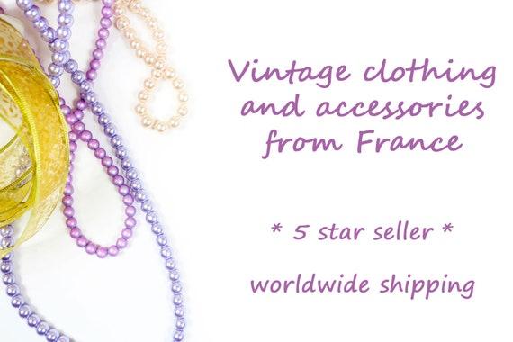 50s floral halter neck dress, handmade French vin… - image 10