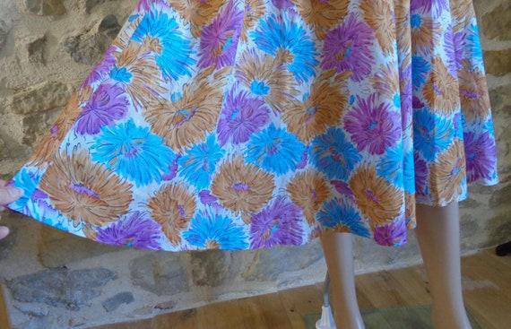50s floral halter neck dress, handmade French vin… - image 3