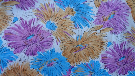 50s floral halter neck dress, handmade French vin… - image 4