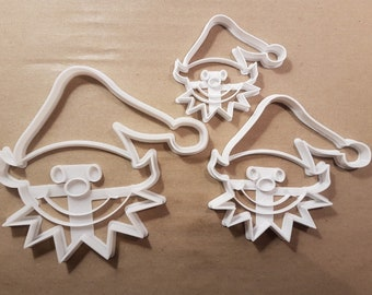 306b35a05aff0 Christmas Elf Helper Toys Shape Cookie Cutter Dough Biscuit Pastry Fondant  Stamp Stencil Sharp Elves Xmas