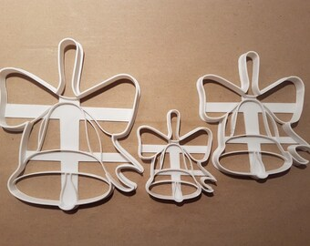 4d27059a791b7 Christmas Bell Ribbon Shape Cookie Cutter Dough Biscuit Pastry Fondant  Stamp Stencil Sharp Xmas Bow