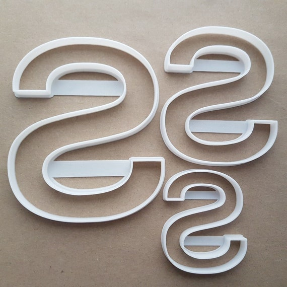 Alphabet Letter Z Lower Shape Cookie Cutter Dough Biscuit Pastry Fondant Sharp