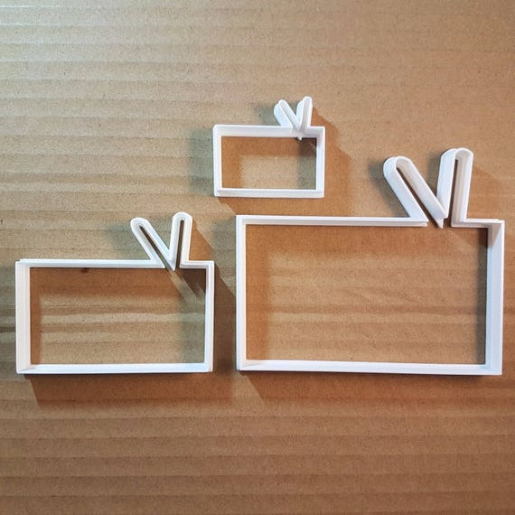 Cassette Tape Video Music Shape Cookie Cutter Dough Biscuit Pastry Stamp Sharp