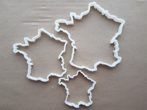 China Country Map Chinese Shape Cookie Cutter Dough Biscuit Pastry Fondant Sharp Stencil Outline Atlas