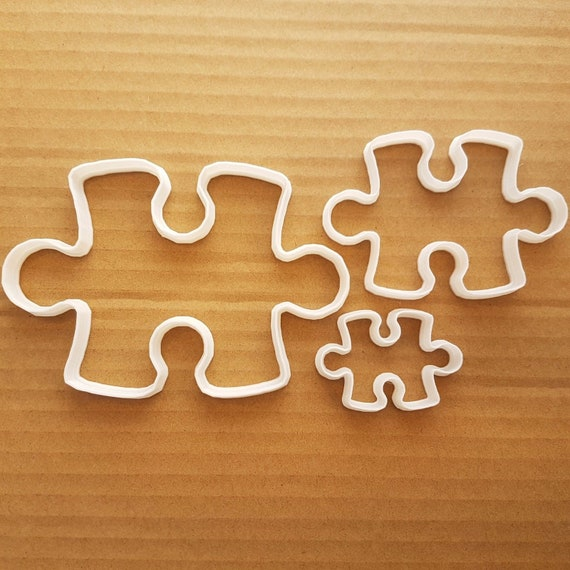 Puzzle Piece Cookie//Icing Cutter