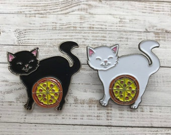 Pizza Cat Enamel Pin | Pizza & Cat Lover| Stocking Filler Gift | Lapel Pin, Badge |