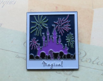 Magical Castle Enamel Pin | USA Inspired | Fireworks at Night |