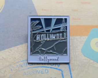 Hollywood Sign at Night Enamel Pin | USA Inspired | American Road Trip |