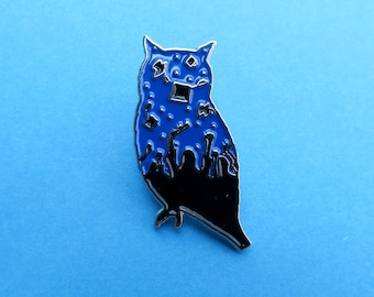 Graduation Owl Enamel Pin - Brooch| Stocking Filler Gift | Lapel Pin, Badge |