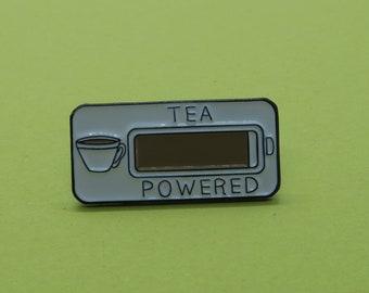 Tea Powered Enamel Pin
