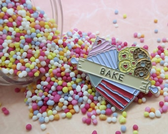 Bake Enamel Pin | Gift for Bakers, Baking,Cupcake,  Cake |