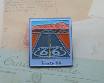 Route 66 Enamel Pin | USA Inspired | American Road Trip |