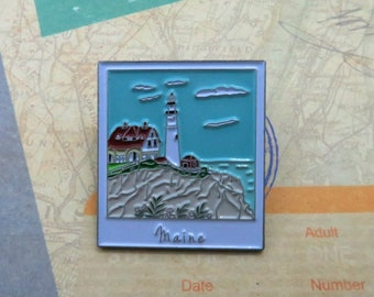 Maine Lighthouse Enamel Pin | USA Inspired | American Road Trip |