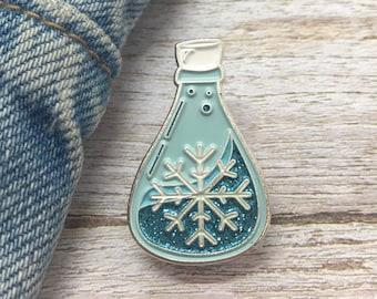 Winter Potion Enamel Pin | Season, Snowflake, Christmas