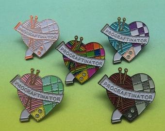 Procraftinator Enamel Pin | Sewing, Knitting, Craft | Five Variations
