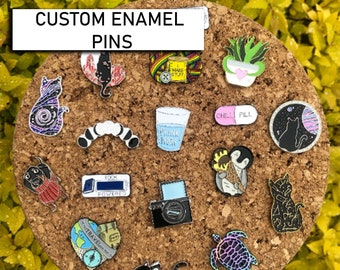 Design Your Own Enamel Pins | Custom Shape | Message for Quote (Do not Purchase this listing)
