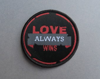 Love Always Wins Patch - Iron on / Sew On. Cute Gift for All| Stocking Filler Gift