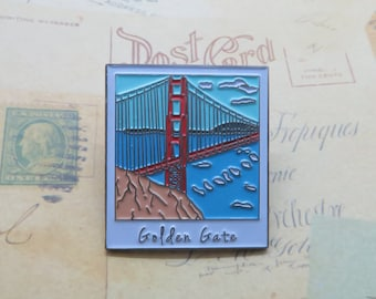 Golden Gate Bridge | San Francisco Polaroid Enamel Pin | USA Inspired |