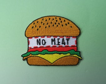 "Vegeterian/Vegan ""No Meat"" Burger Patch 
