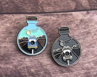 Campervan Potion Enamel Pin | Travel, Wanderlust |  Gift | Lapel Pin, Badge |