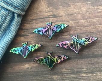 Rainbow Metal Bat Enamel Pin