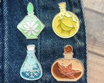 Set of 4 Seasons Potion Enamel Pin |