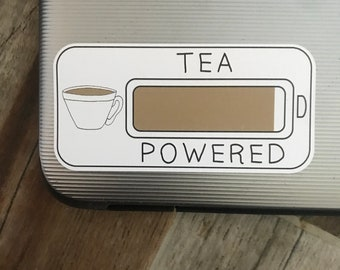 Eco-Friendly Tea Powered Sticker | Tea Lover | Laptop Sticker