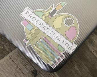 Eco-Friendly Artist Procraftinator Sticker   Laptop Sticker