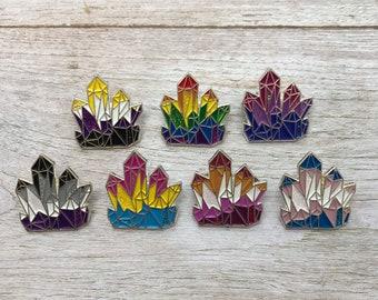 LGBT Crystal Glitter Enamel Pin | Lapel Pin, Badge |