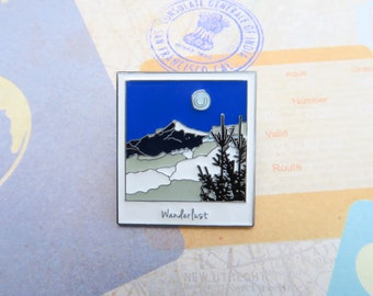 Polaroid Enamel Pin | Wanderlust Travel | Mountains |