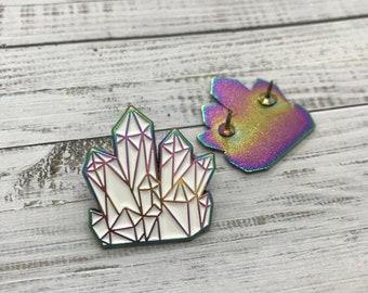 Crystal Fossil Enamel Pin | Science Lapel Pin, Badge |