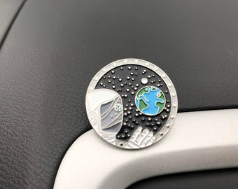 Astronaut Waving to  Earth Enamel Pin | Outer Space | Galaxy, Planets, Stars | Space Explorer