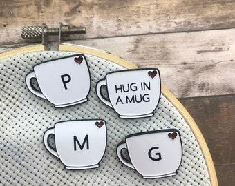 Personalised, Custom Mug Needle Minder | Needle Nanny
