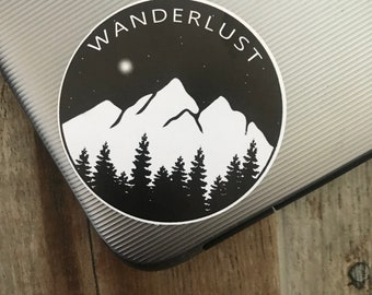 Eco-Friendly Wanderlust Sticker | Travel, Backpacking, Mountains | Laptop Sticker