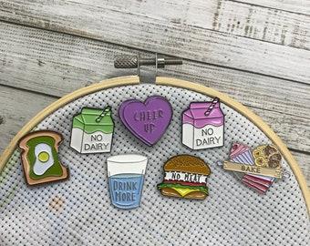 Vegan, Vegetarian Needle Nanny or Magnet | Needle Minder | Bake, Drink More |