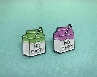 No Dairy Milk Carton Enamel Pin