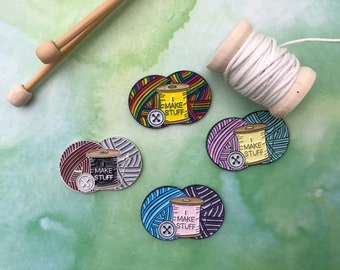 I Make Stuff Needle Minder   Sewing, Knitting, Craft   Five Variations  