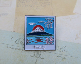 Polaroid Enamel Pin | Japan, Mount Fuji Travel | Wanderlust Lapel Pin